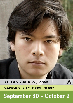 Stefan Jackiw performs with the Kansas City Symphony