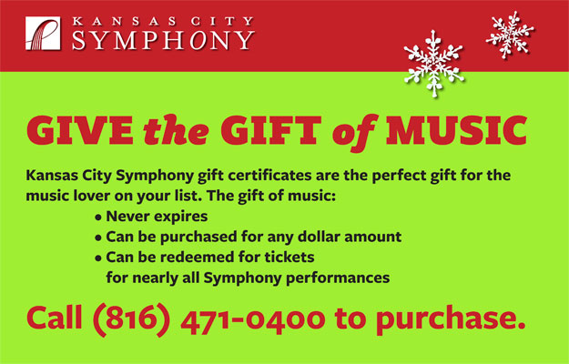 gift certificate information