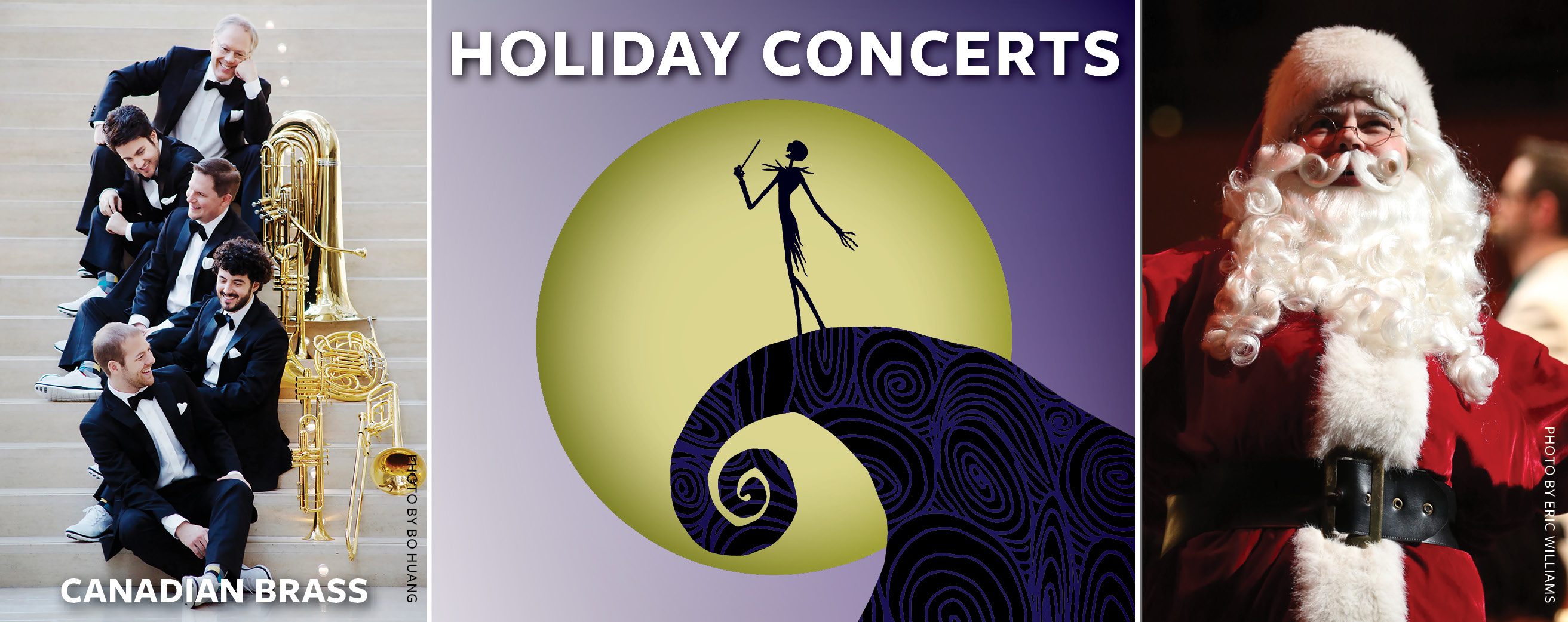 holiday concerts promotional banner