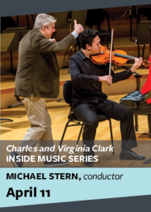 flyer for inside music series with michael stern