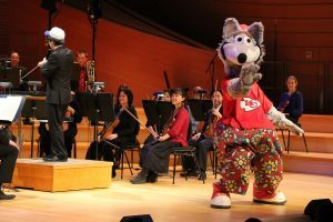 KC Wolf with the Symphony