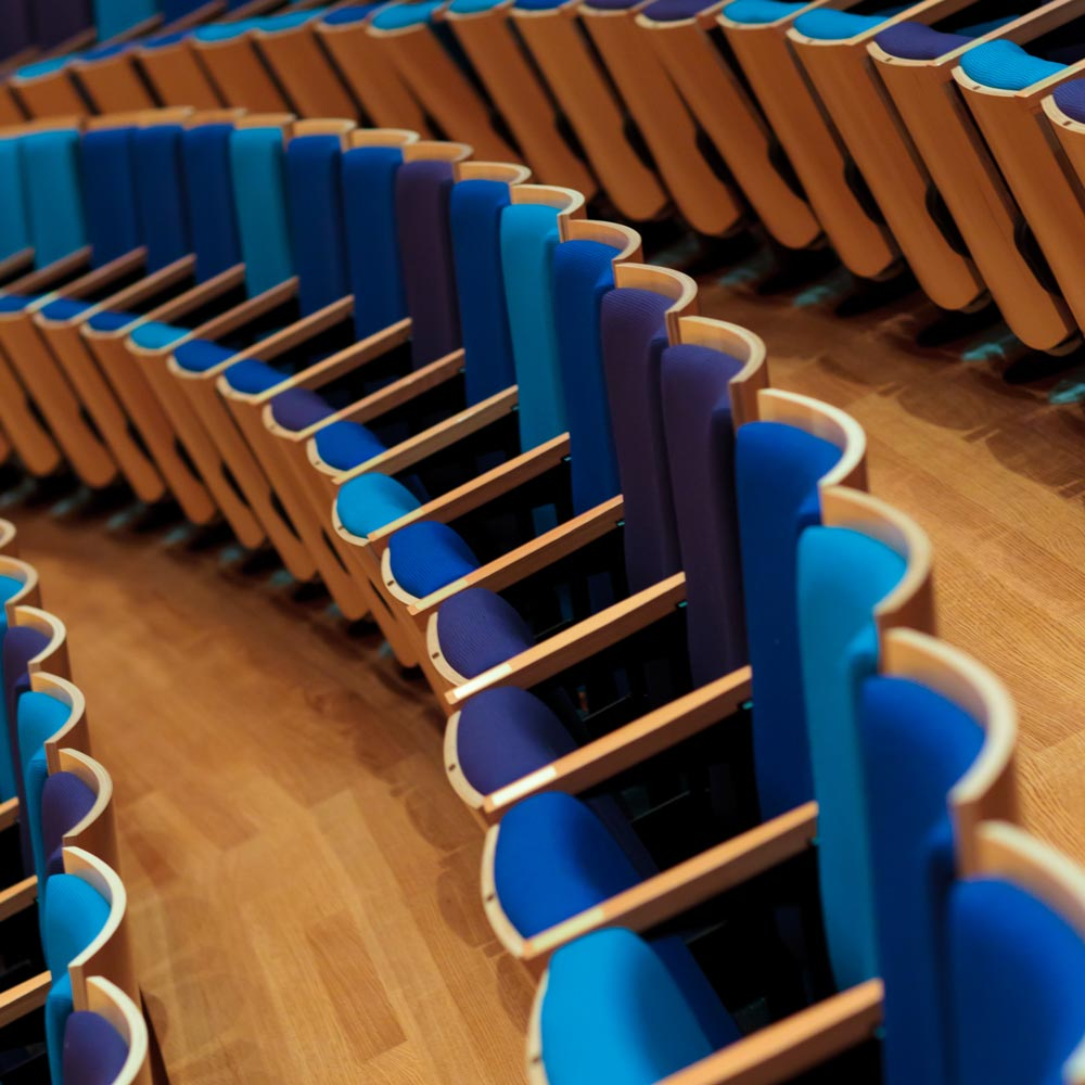 blue theatre seats