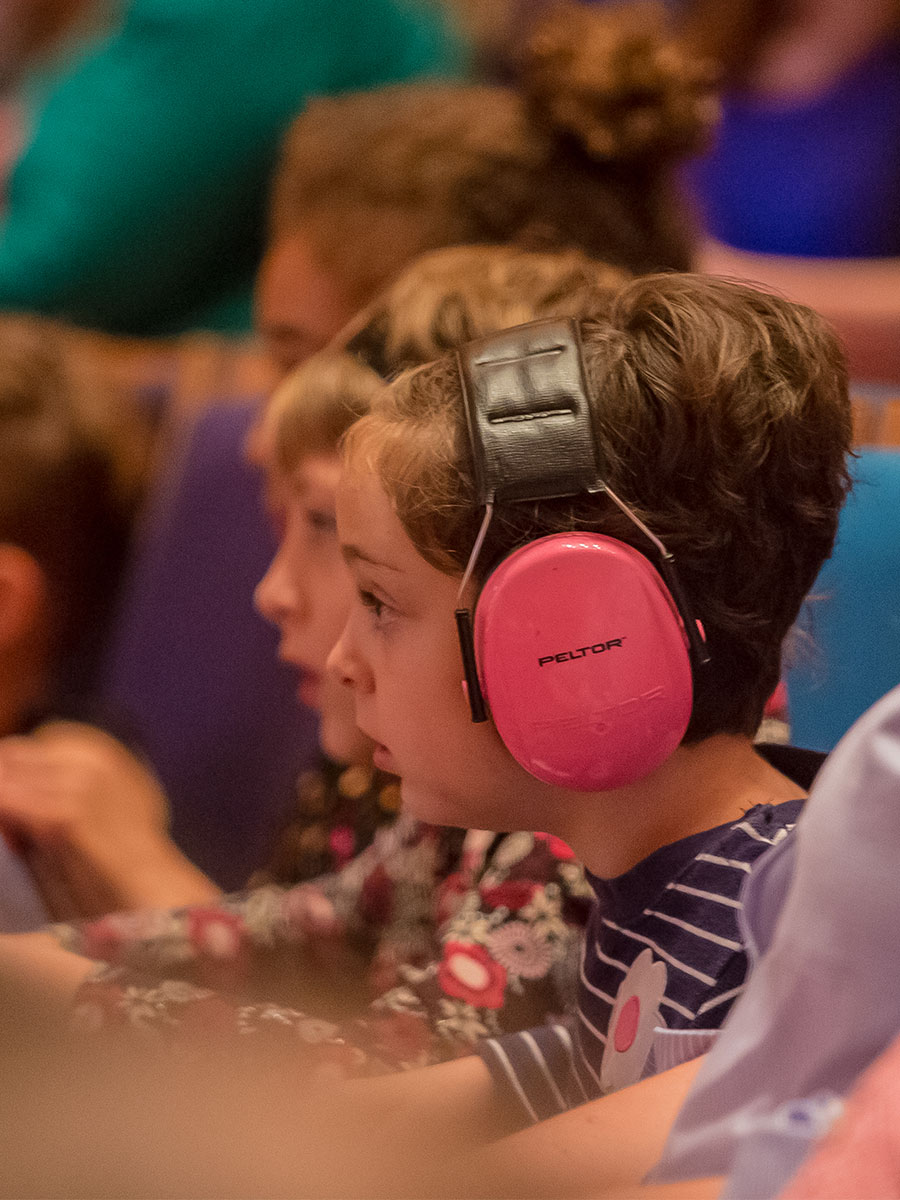 Children attending a Kansas City Symphony Sensory-Friendly concert in Helzberg Hall