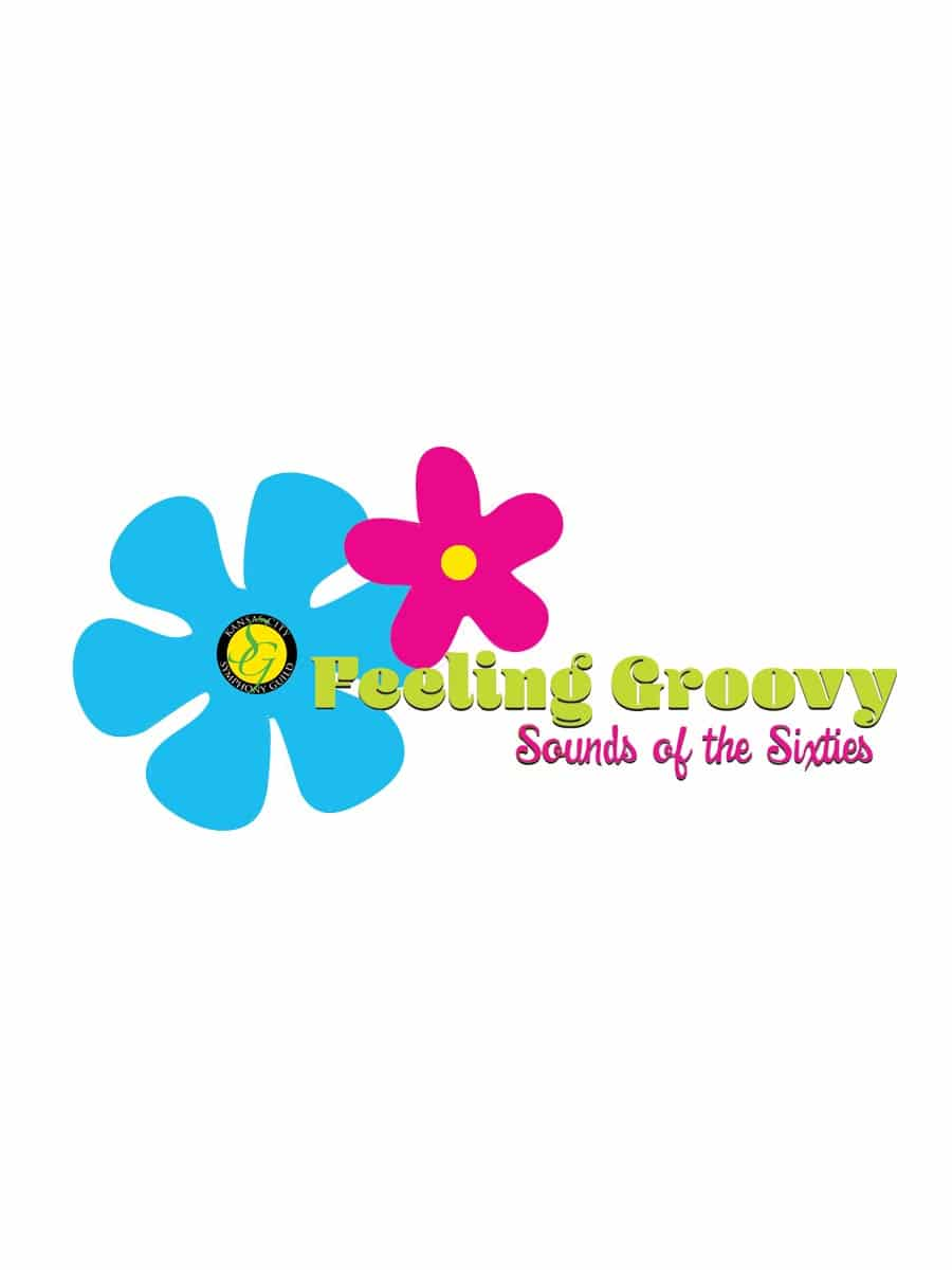Feeling Groovy Sounds of the Sixties Flower illustration graphic