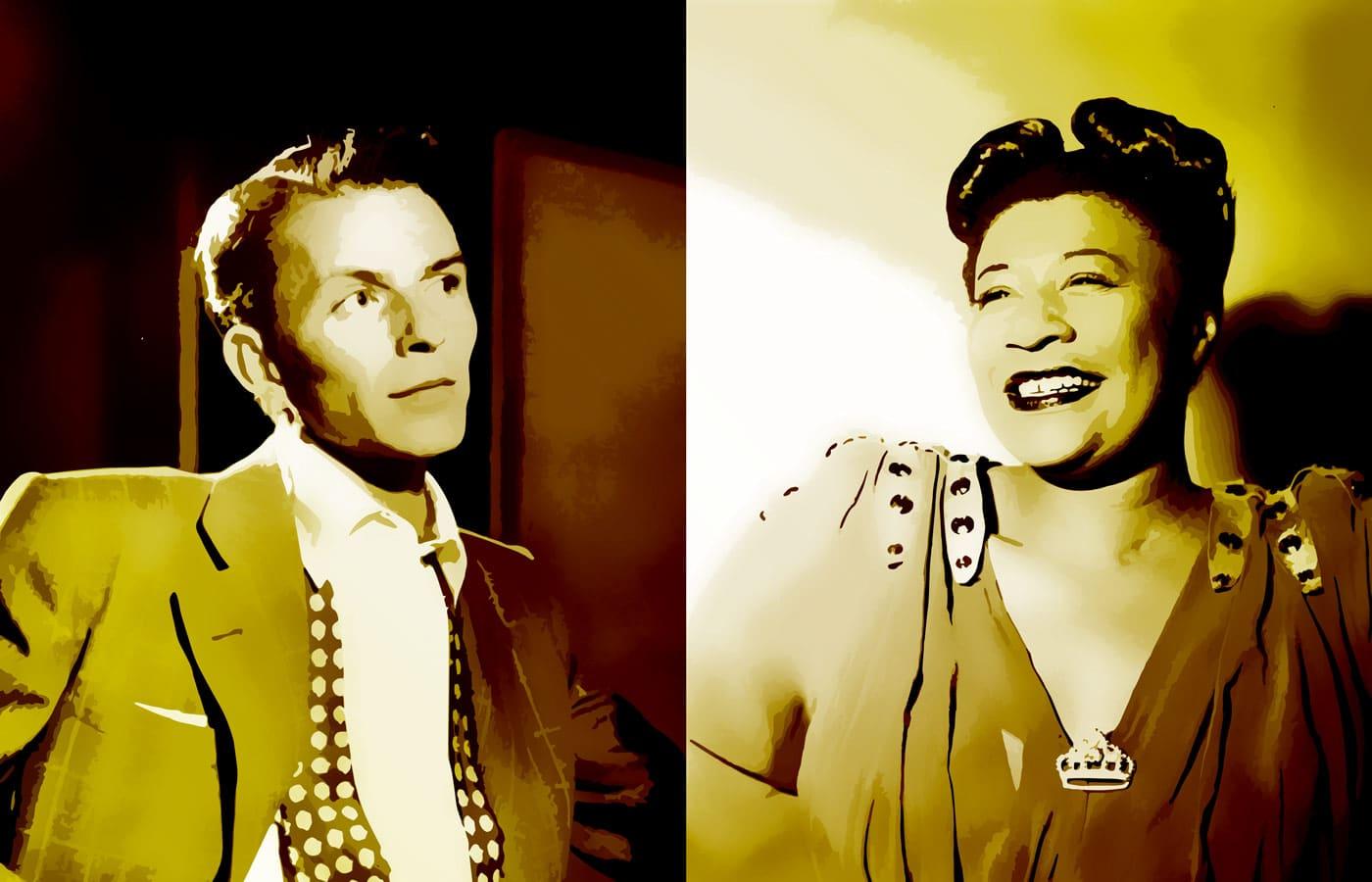 Photo of Frank Sinatra and Ella Fitzgerald