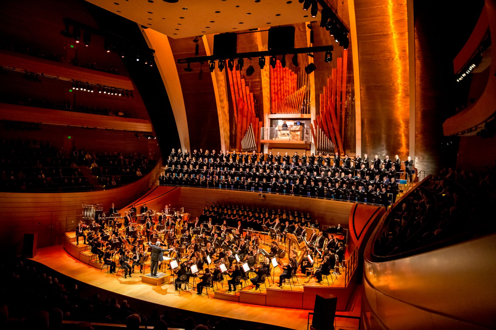 Orchestra in Helzberg Hall at the Kauffman Center for the Performing Arts