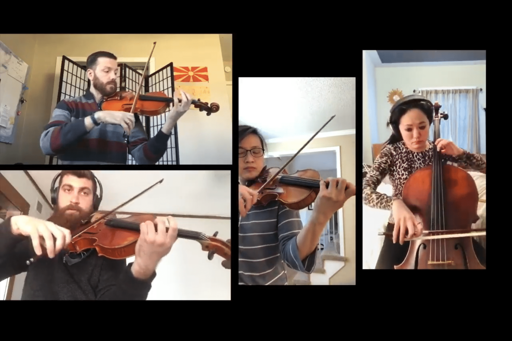 String quartet at home